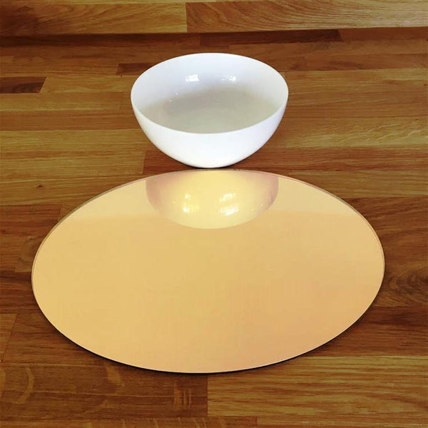 Oval Placemat Set - Gold Mirror
