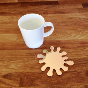 Splash Shaped Coaster Set - Gold Mirror