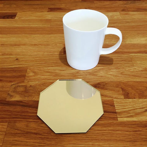 Octagonal Coaster Set - Gold Mirror