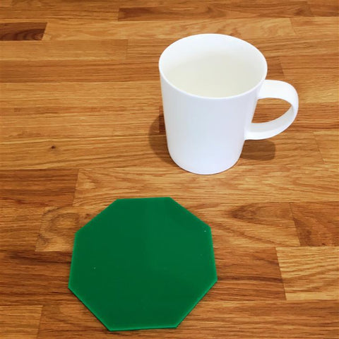 Octagonal Coaster Set - Green