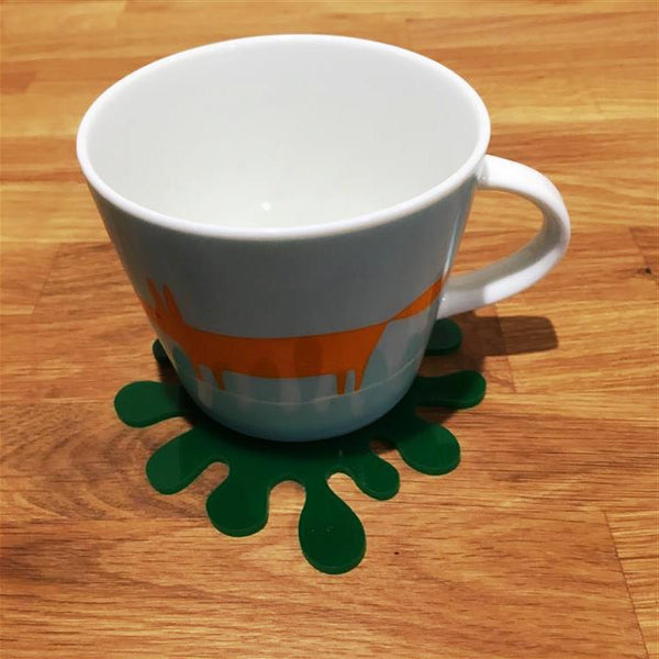 Splash Shaped Coaster Set - Green