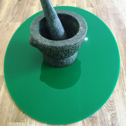 Oval Worktop Saver - Dark Green