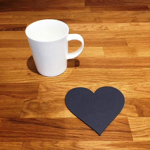 Heart Shaped Coaster Set - Graphite Grey