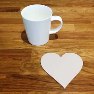 Heart Shaped Coaster Set - Latte