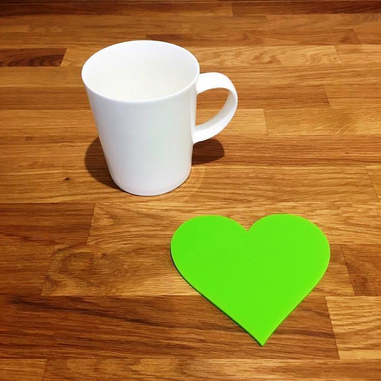 Heart Shaped Coaster Set - Lime Green