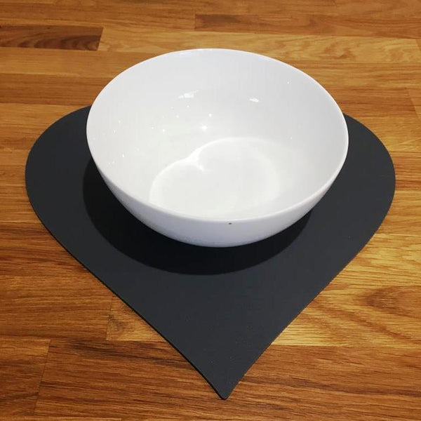 Heart Shaped Placemat Set - Graphite Grey