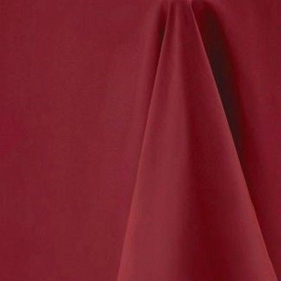 Maroon Round Tablecloth