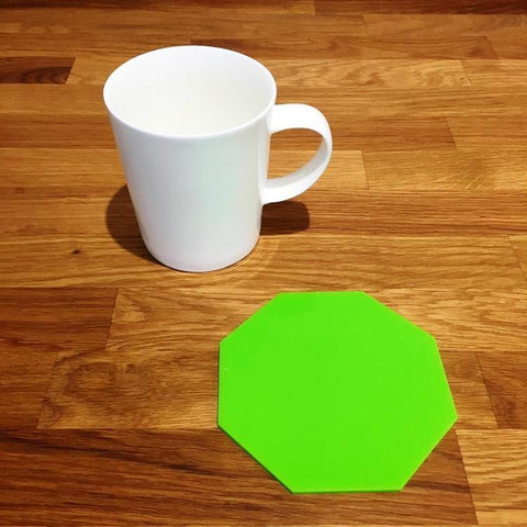 Octagonal Coaster Set - Lime Green