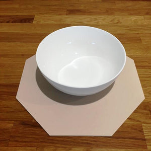 Octagonal Placemat Set - Latte