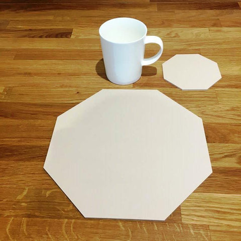 Octagonal Placemat and Coaster Set - Latte