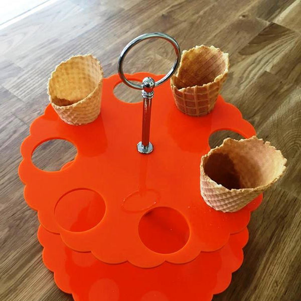 Ice Cream Cone Stand - Orange