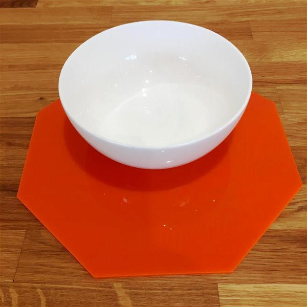 Octagonal Placemat Set - Orange