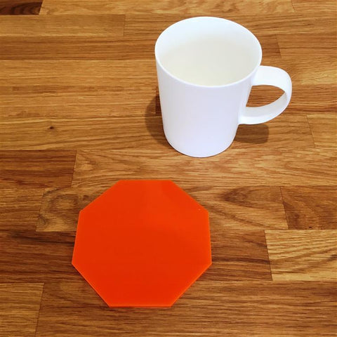 Octagonal Coaster Set - Orange