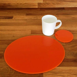 Oval Placemat and Coaster Set - Orange
