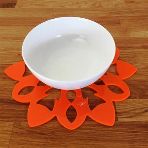 Snowflake Shaped Placemat Set - Orange