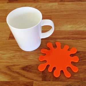 Splash Shaped Coaster Set - Orange