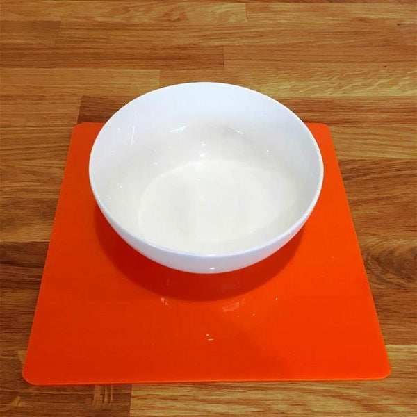 Square Placemat Set - Orange