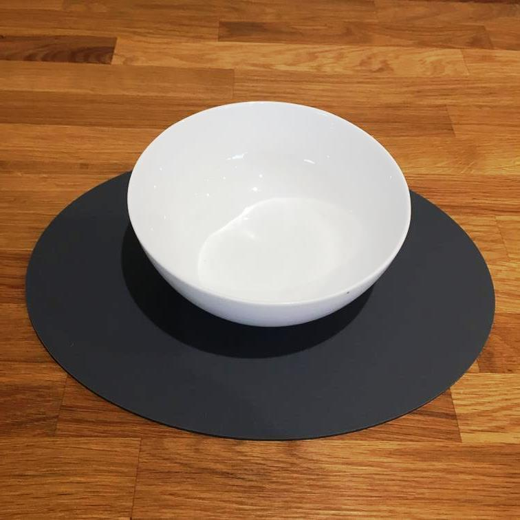 Oval Placemat Set - Graphite Grey