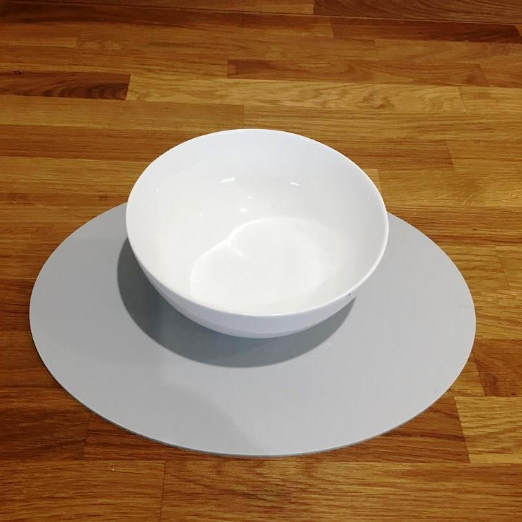 Oval Placemat Set - Light Grey