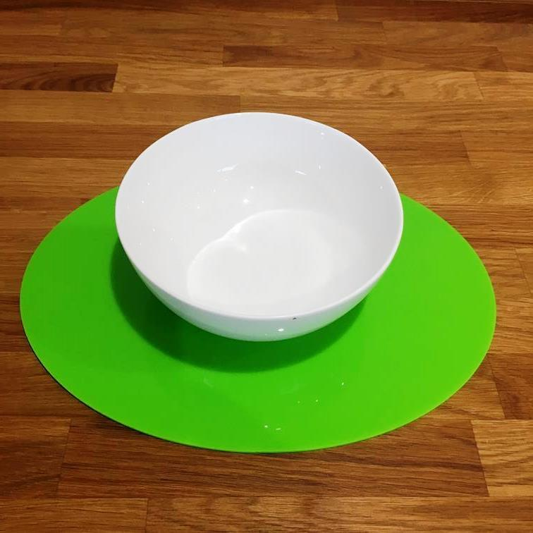 Oval Placemat Set - Lime Green
