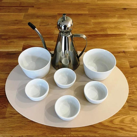 Oval Serving Mat/Table Protector - Latte Matt