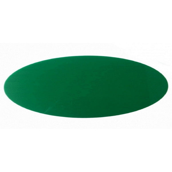 Dark Green Oval Acrylic Table Runner