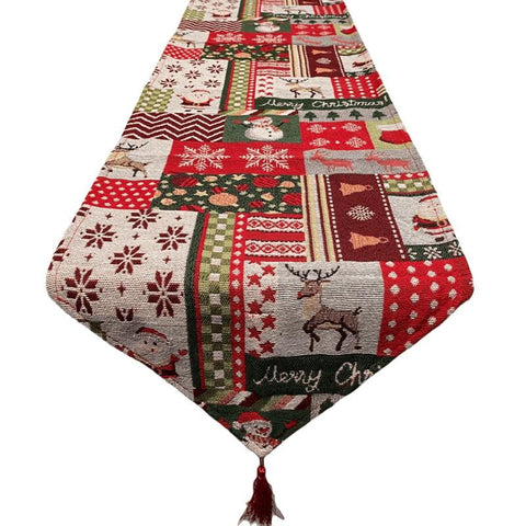 Patchwork Style Christmas Table Runner