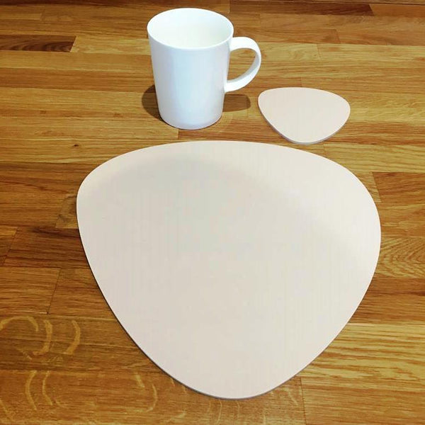 Pebble Shaped Placemat and Coaster Set - Latte