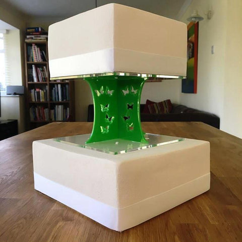 Cake Pillars Square Butterfly - Bright Green