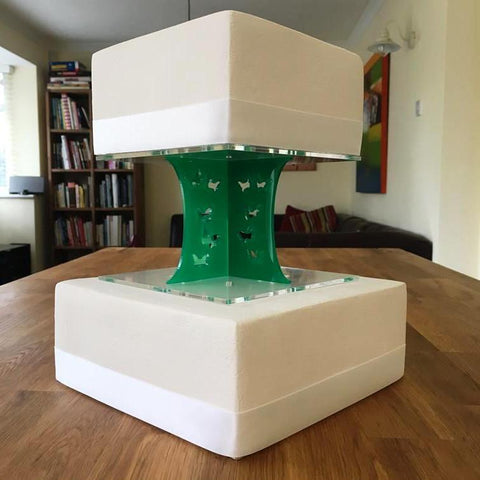 Cake Pillars Square Butterfly - Green