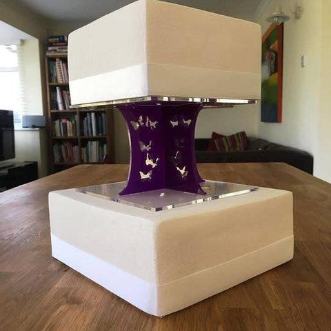 Cake Pillars Square Butterfly - Purple