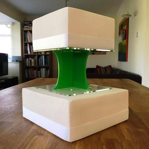 Cake Pillars Square Solid - Bright Green