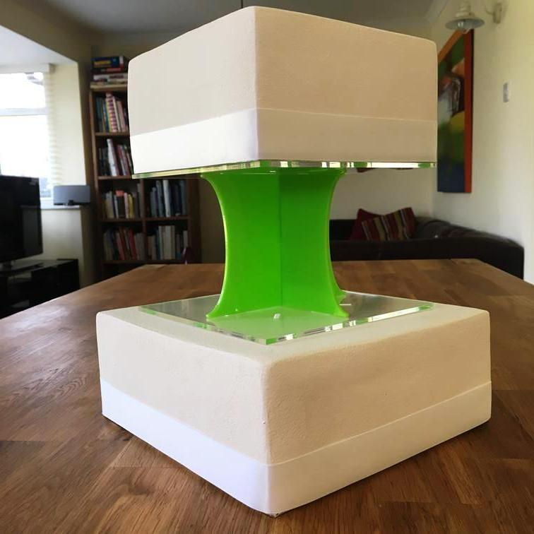 Cake Pillars Square Solid - Lime Green
