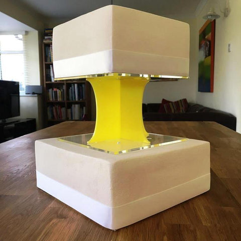 Cake Pillars Square Solid - Yellow