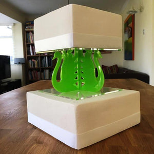 Cake Pillars Square Swan - Lime Green