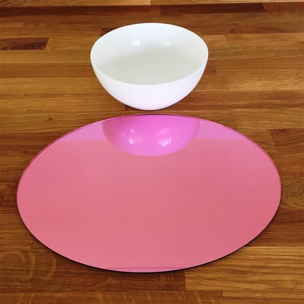Oval Placemat Set - Pink Mirror
