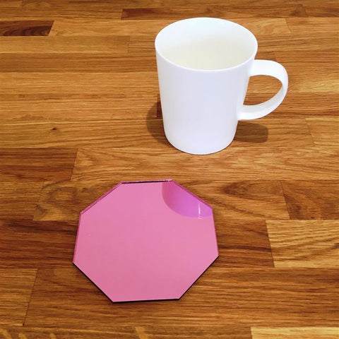 Octagonal Coaster Set - Pink Mirror