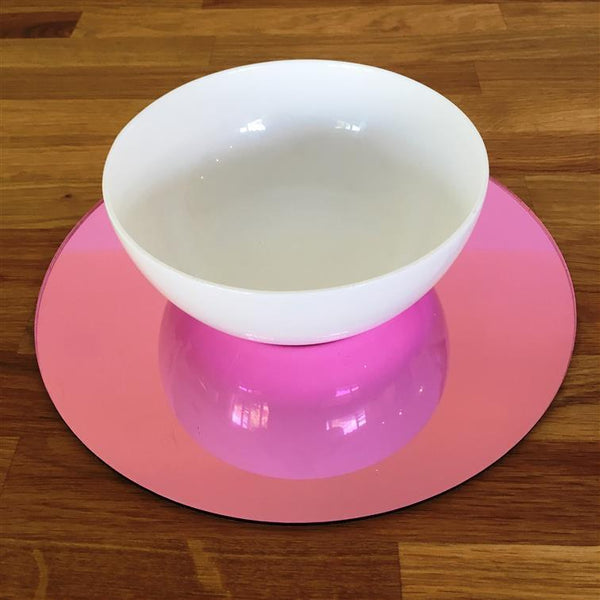 Round Placemat Set - Pink Mirror