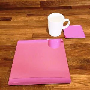 Square Placemat and Coaster Set - Pink Mirror