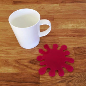 Splash Shaped Coaster Set - Pink