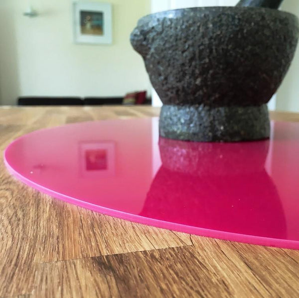 Oval Worktop Saver - Pink