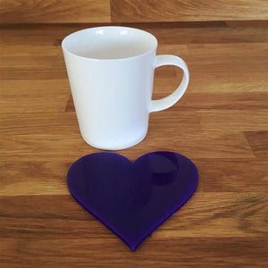 Heart Shaped Coaster Set - Purple