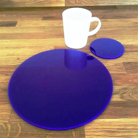 Round Placemat and Coaster Set - Purple