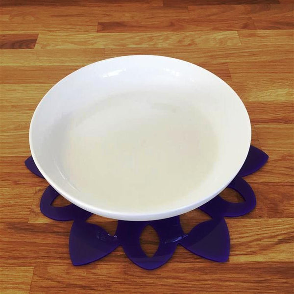 Snowflake Shaped Placemat Set - Purple