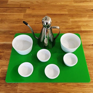 Rectangular Serving Mat/Table Protector - Bright Green Gloss