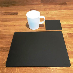 Rectangular Placemat and Coaster Set - Mocha Brown