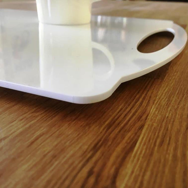 Rectangular Flat Serving Tray - White