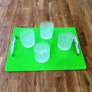 Rectangular Serving Tray with Handle - Lime Green