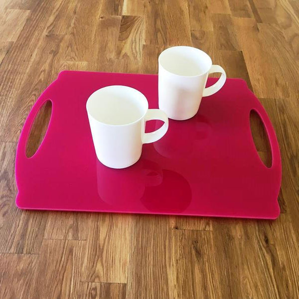 Rectangular Flat Serving Tray - Pink