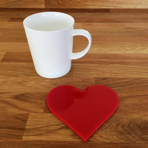 Heart Shaped Coaster Set - Red